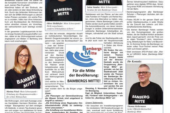 Zeitungsartikel Bambergs Mitte